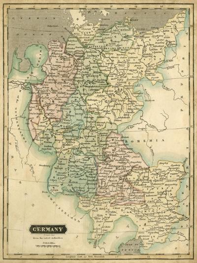 Thomson's Map of Germany-Thomson-Art Print