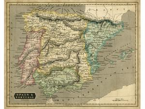 Thomson's Map of Spain & Portugal by Thomson