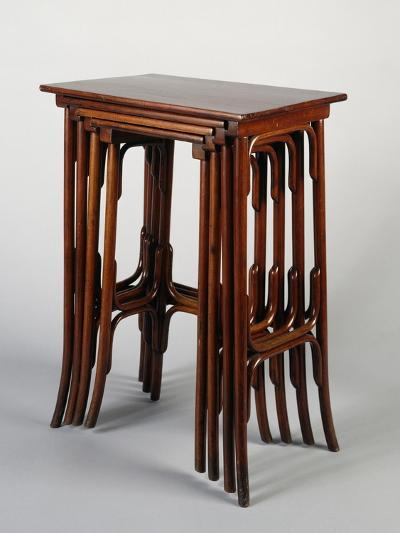 Thonet Nested Tables, Austria--Giclee Print
