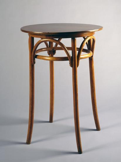 Thonet Style Table, 1920, Bentwood, Italy--Giclee Print