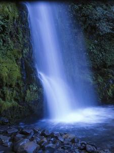 New Zealand, North Island, Dawson Falls, Waterfall by Thonig