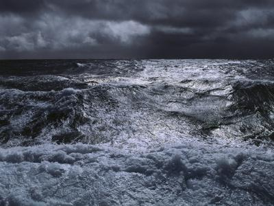 Sea, Stormy, Waves, Clouds