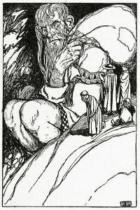 Thor and the Giant Skrymir, from 'The Book of Myths' by Amy Cruse, 1925