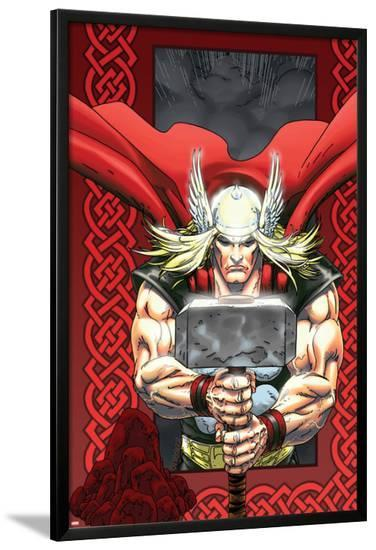 Thor: Blood Oath No.6 Cover: Thor-Scott Kolins-Lamina Framed Poster