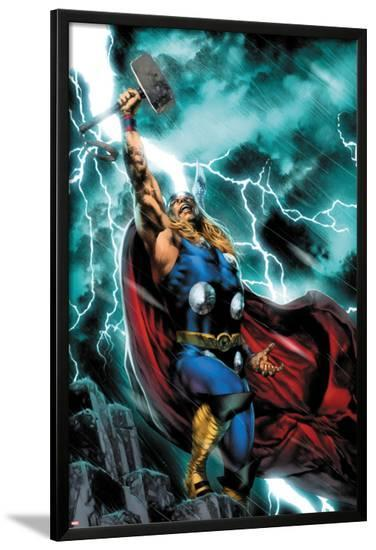 Thor: First Thunder No.1 Cover: Thor Standing-Jay Anacleto-Lamina Framed Poster