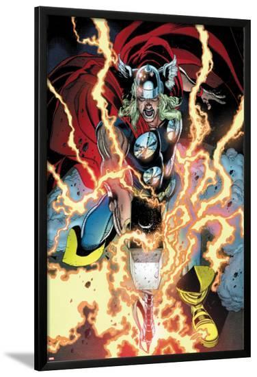 Thor: First Thunder No.1: Thor Smashing-Tan Eng Huat-Lamina Framed Poster