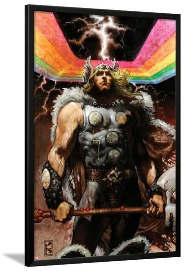 Thor: For Asgard No.4 Cover: Thor Standing-Simone Bianchi-Lamina Framed Poster