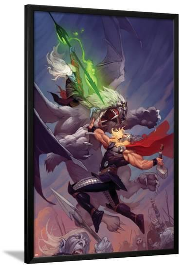 Thor: God of Thunder #13 Cover: Thor, Malekith-Ron Garney-Lamina Framed Poster