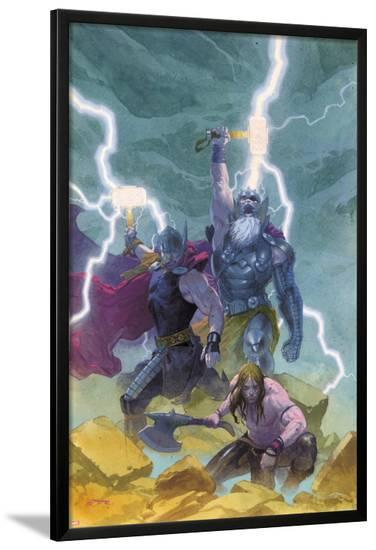 Thor: God of Thunder #9 Cover: Odin, Thor-Esad Ribic-Lamina Framed Poster
