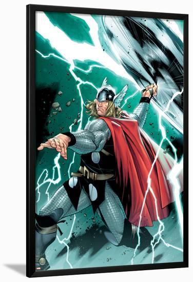 Thor No.1 Cover: Thor-Olivier Coipel-Lamina Framed Poster