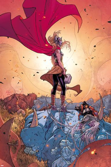 Thor No. 5 Cover, Featuring: Thor (Female), Frost Giants-Russell Dauterman-Art Print