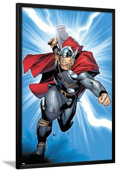 Thor No.6 Cover: Thor-Olivier Coipel-Lamina Framed Poster