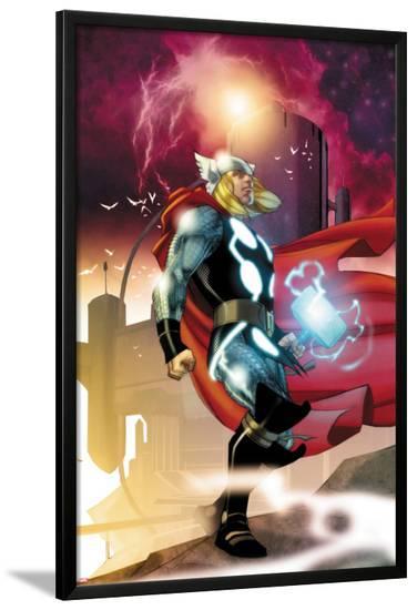 Thor No.615 Cover: Thor Walking-Joe Quesada-Lamina Framed Poster
