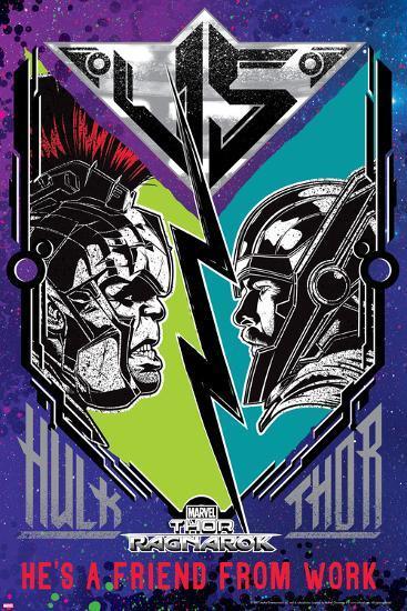Thor: Ragnarok - Hulk vs. Thor--Art Print