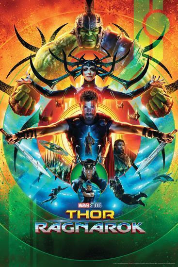 Thor: Ragnarok - Thor, Hulk, Valkyrie, Loki, Hela, Heimdall, Grandmaster--Poster