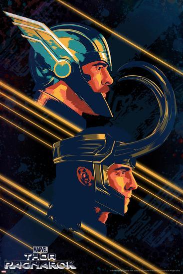 Thor: Ragnarok - Thor, Loki--Art Print