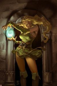 Thor Son Of Asgard No.8 Cover: Amora Charging