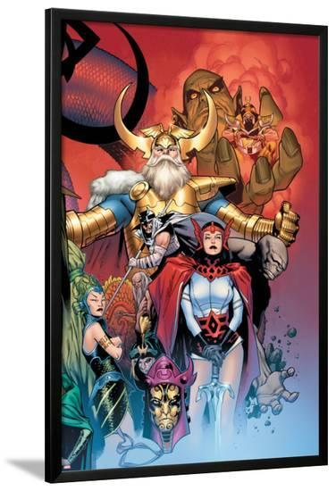 Thor: Tales of Asgard by Stan Lee & Jack Kirby No.6 Cover: Sif and Odin-Olivier Coipel-Lamina Framed Poster