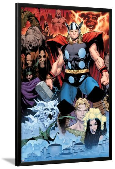 Thor: Tales of Asguard by Stan Lee & Jack Kirby No.1 Cover: Thor-Olivier Coipel-Lamina Framed Poster