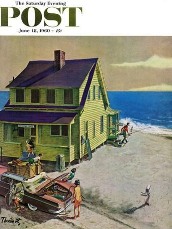 """Fathers Off Fishing,"" Saturday Evening Post Cover, June 18, 1960"