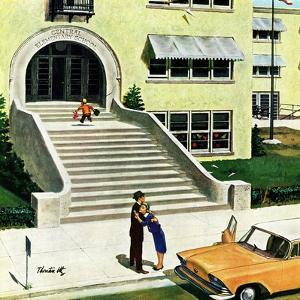 """First day of school"", September 6, 1958 by Thornton Utz"