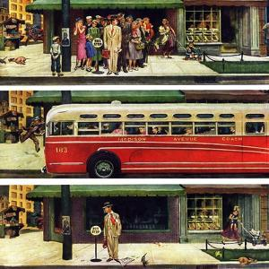 """Missed the Bus,"" September 10, 1949 by Thornton Utz"