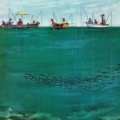 """School of Fish Among Lines"", August 7, 1954"
