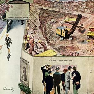 """Sidewalk Sideshow"", November 21, 1959 by Thornton Utz"