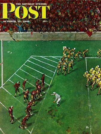 """Third Down, Goal to Go,"" Saturday Evening Post Cover, October 15, 1949"