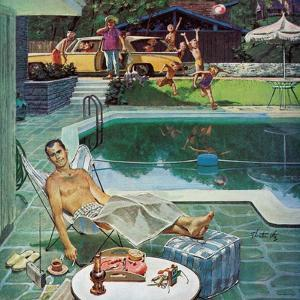 """Unwelcome Pool Guests,"" July 22, 1961 by Thornton Utz"
