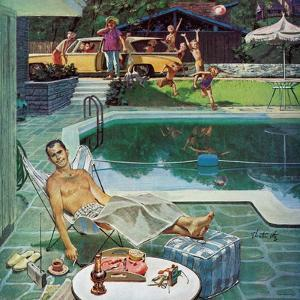 """""""Unwelcome Pool Guests,"""" July 22, 1961 by Thornton Utz"""