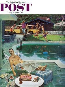 """Unwelcome Pool Guests,"" Saturday Evening Post Cover, July 22, 1961 by Thornton Utz"