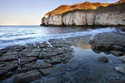 Thornwick Bay at Sunset-Mark Sunderland-Photographic Print