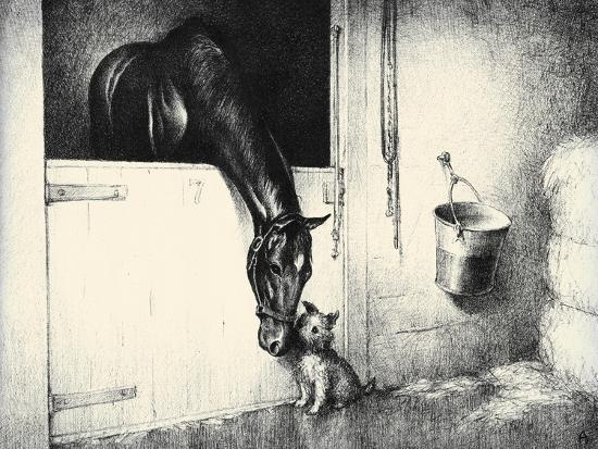 Thoroughbreds; And Their Mascots-C.W. Anderson-Art Print