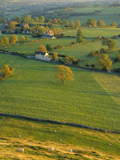 Thorpe Cloud, Dovedale, Peak District National Park, Derbyshire, England, UK-Charles Bowman-Photographic Print