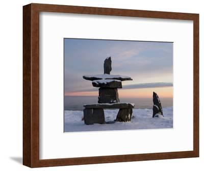 Inukshuk, Inuit Stone Landmark, Churchill, Hudson Bay, Manitoba, Canada