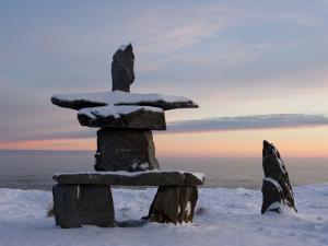 Inukshuk, Inuit Stone Landmark, Churchill, Hudson Bay, Manitoba, Canada by Thorsten Milse