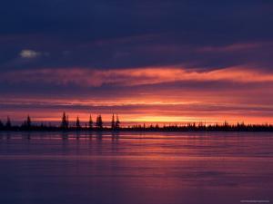 Sunrise at the Lake Near Churchill, Hudson Bay, Manitoba, Canada by Thorsten Milse