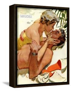 """The Flordia Assignment - Saturday Evening Post """"Leading Ladies"""", March 13, 1954 pg.35 by Thorton Utz"""