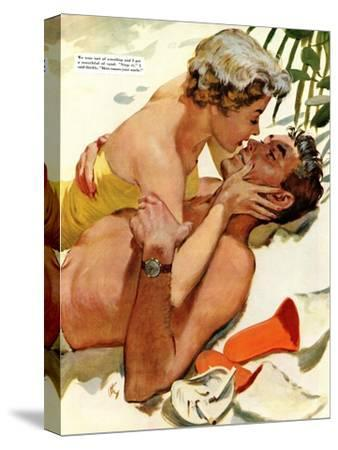 """The Flordia Assignment - Saturday Evening Post """"Leading Ladies"""", March 13, 1954 pg.35"""