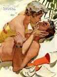 """The Flordia Assignment - Saturday Evening Post """"Leading Ladies"""", March 13, 1954 pg.35-Thorton Utz-Giclee Print"""