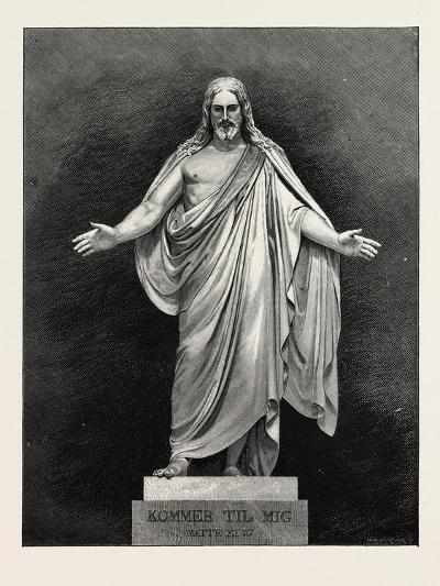 Thorwaldsen's Statue of the Saviour. Karl Albert Bertel Thorvaldsen 1770 1844 Was a Danish Sculptor--Giclee Print