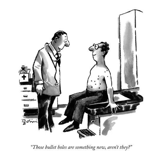 """Those bullet holes are something new, aren't they?"" - New Yorker Cartoon-Eldon Dedini-Premium Giclee Print"