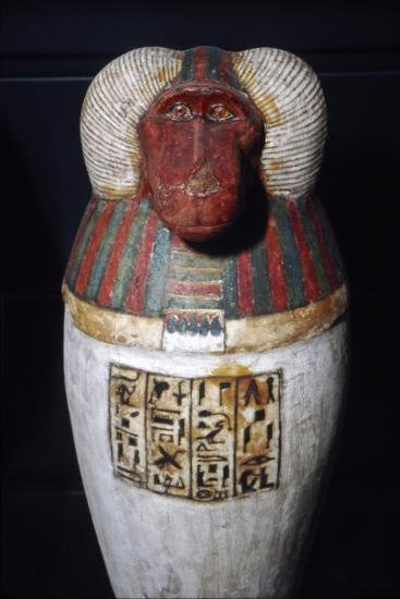 Thoth as Baboon, Canopic Jar, 22nd Dynasty, c1550BC-1069 BC-Unknown-Giclee Print