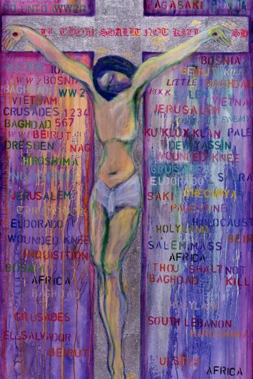 Thou Shalt Not Kill, 2000-Laila Shawa-Giclee Print