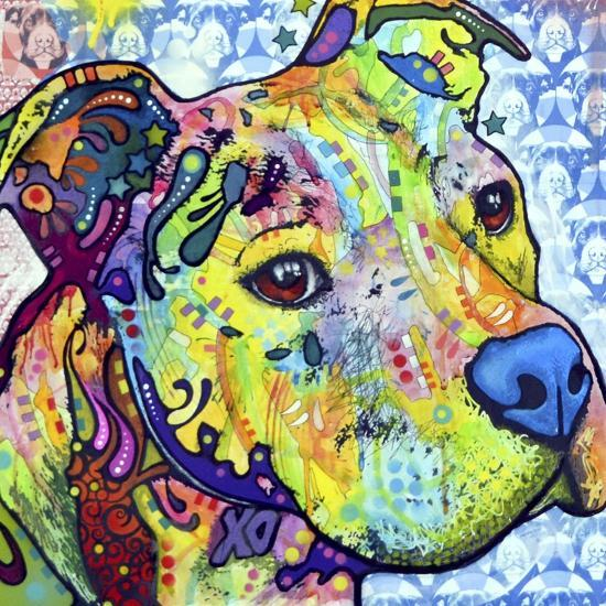 Thoughtful Pit Bull This Years Love 2013 Part 2-Dean Russo-Giclee Print
