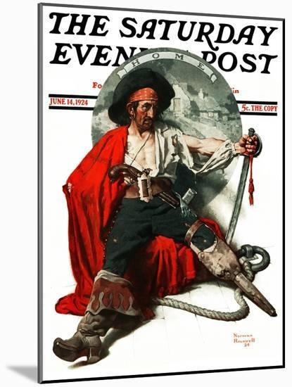 """""""Thoughts of Home"""" Saturday Evening Post Cover, June 14,1924-Norman Rockwell-Mounted Premium Giclee Print"""