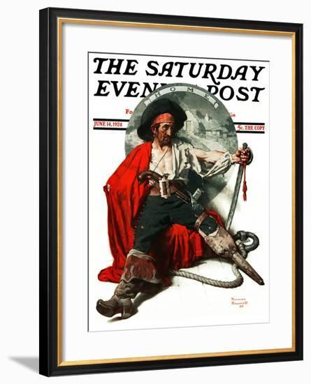 """Thoughts of Home"" Saturday Evening Post Cover, June 14,1924-Norman Rockwell-Framed Giclee Print"