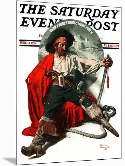 """""""Thoughts of Home"""" Saturday Evening Post Cover, June 14,1924-Norman Rockwell-Mounted Giclee Print"""
