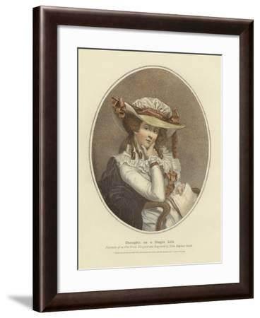 Thoughts on a Single Life-John Raphael Smith-Framed Giclee Print